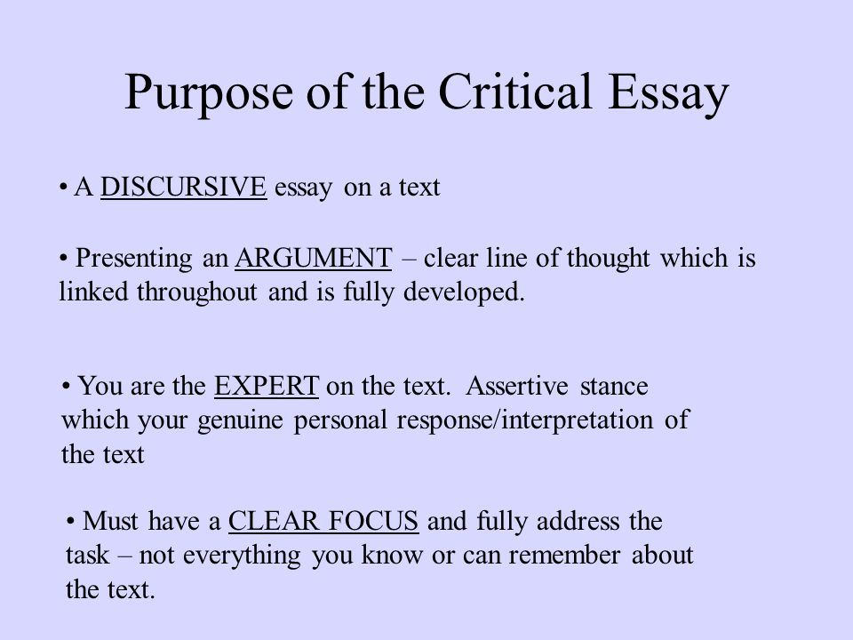 critical stance essay Offers a clear structure to the essay with sections and sub-headings which are transparent and clearly 'signposted' for the reader adopting a critical stance.