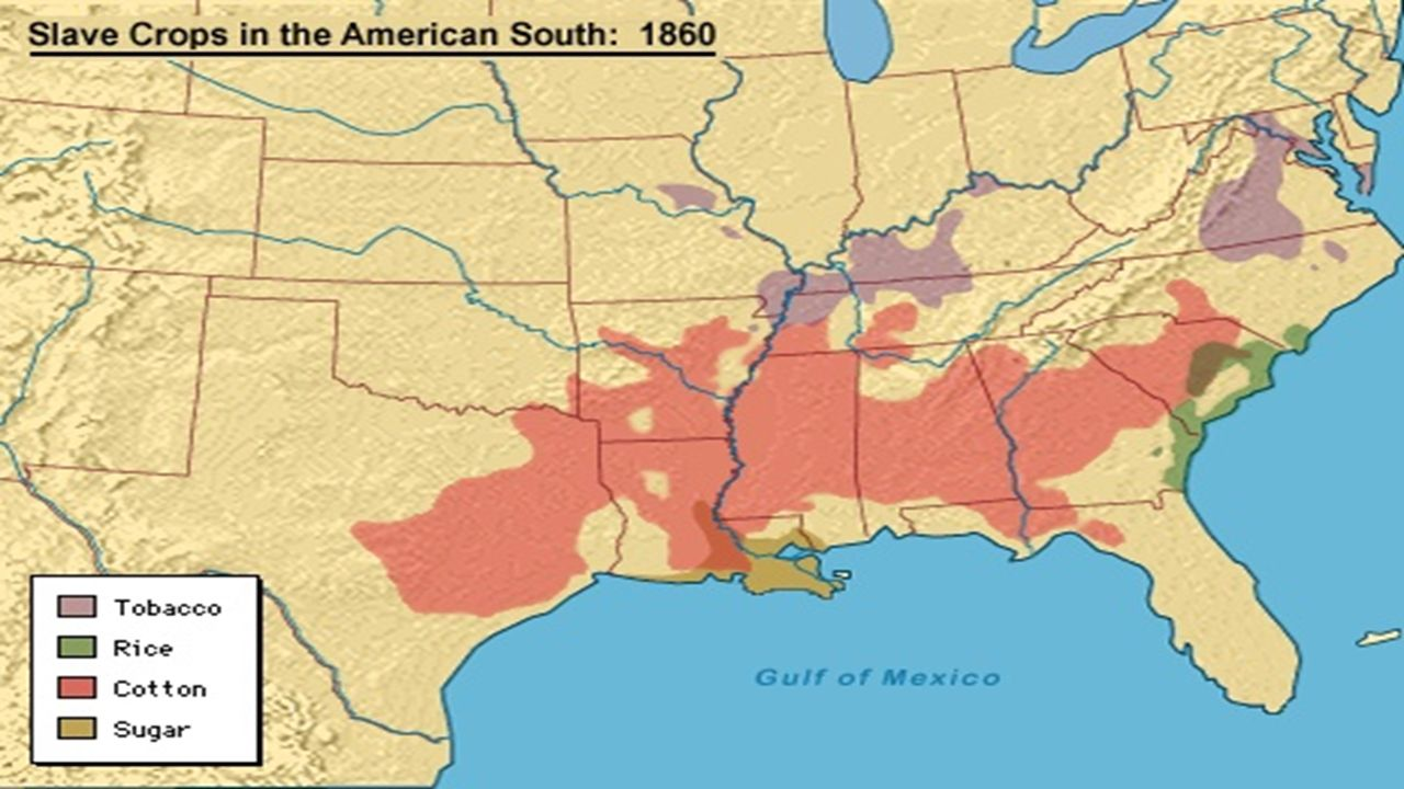 The South Ppt Video Online Download - Us slavery map