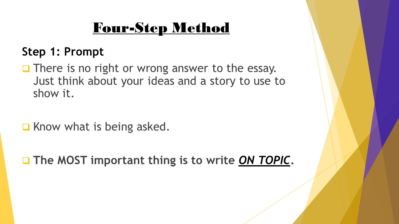 how to write a winning argumentative essay in minutes palmetto  four step method step 1 prompt  there is no right or wrong answer