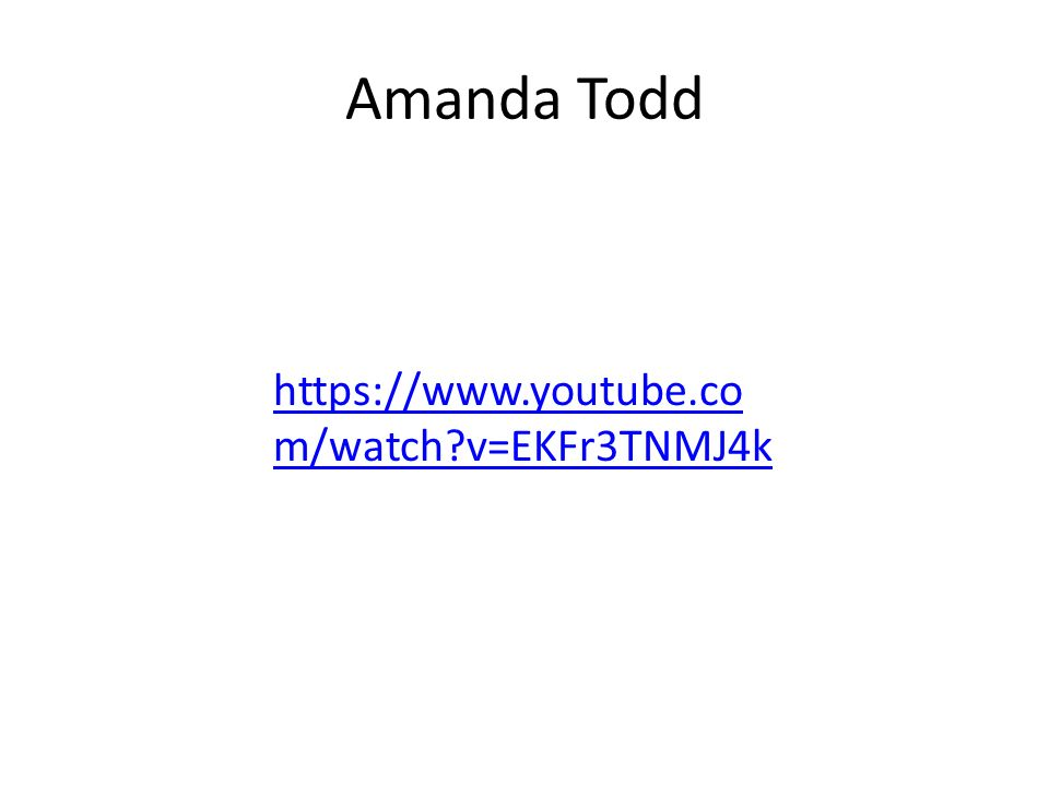amanda todd youtube