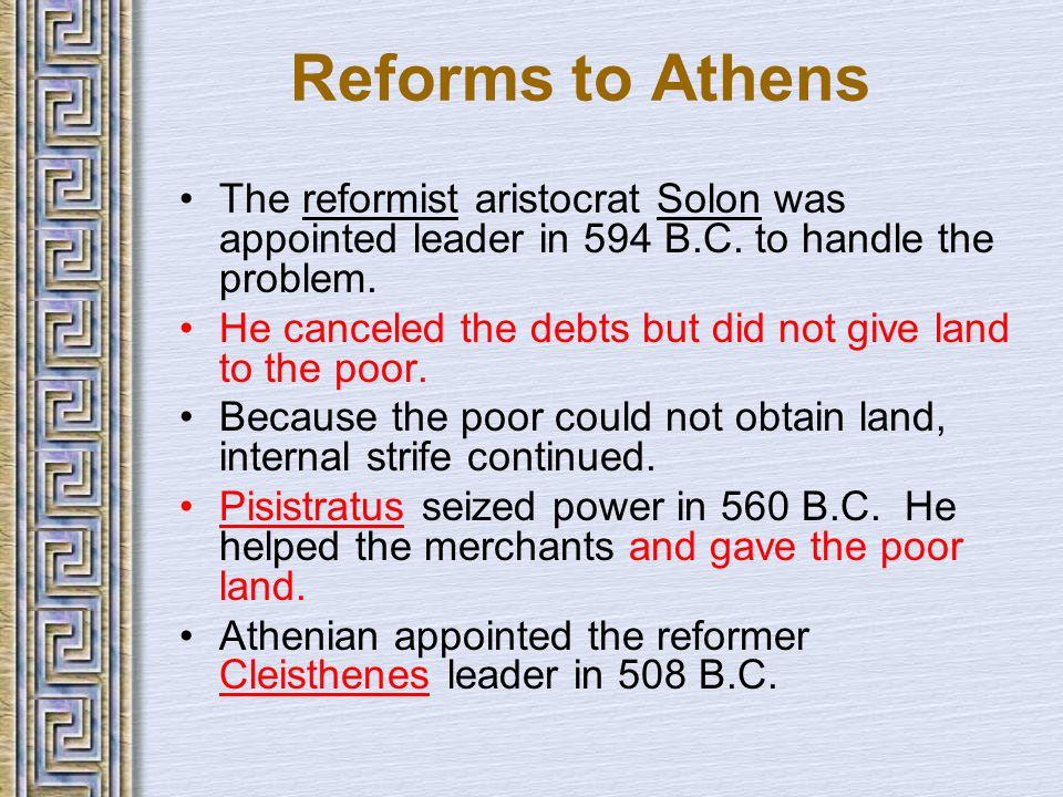 solon economic political reforms athens