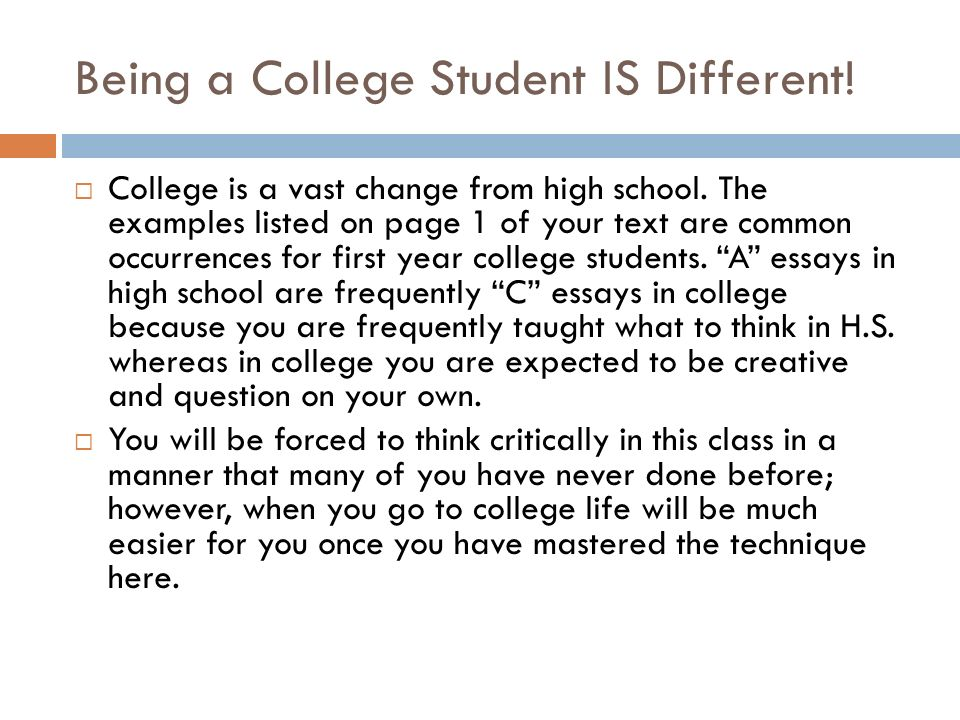 BOOK INTRODUCTION. Being a College Student IS Different ...