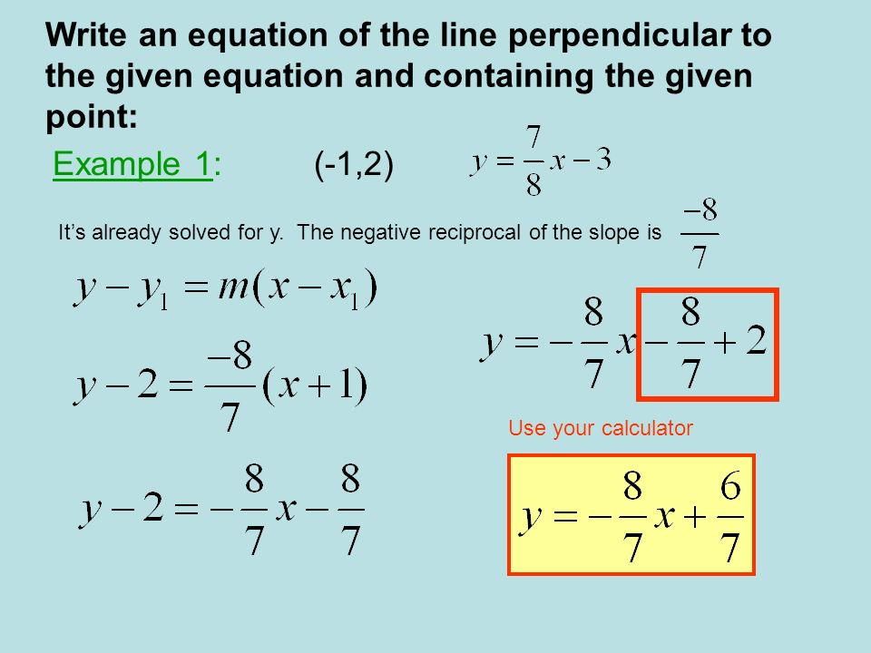 Algebra Parallel Lines Have The Same But Different Slope Y