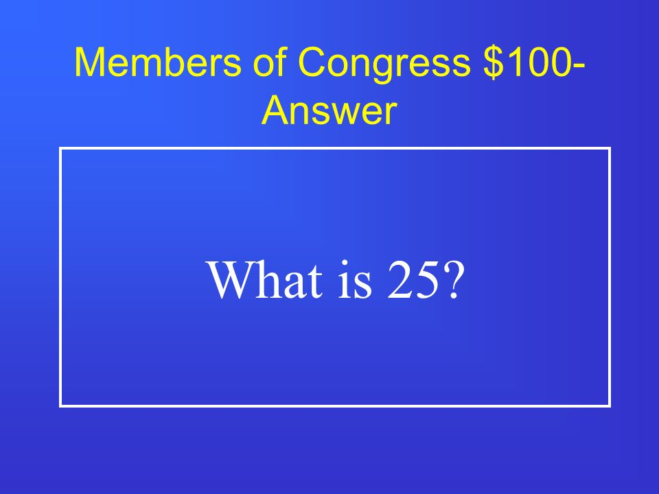 Members of Congress $500 A.