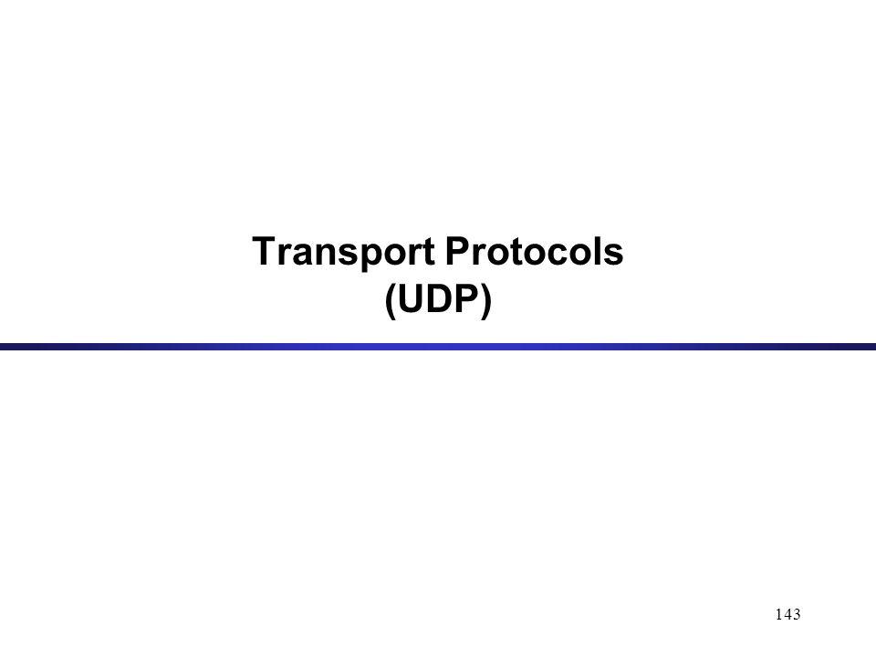 143 Transport Protocols (UDP)