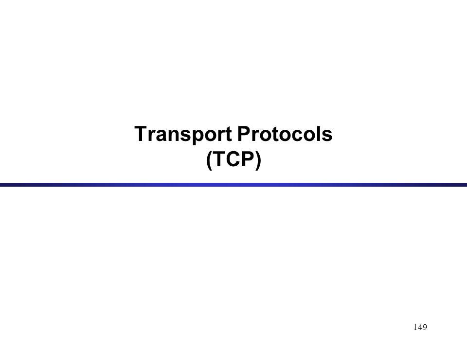 149 Transport Protocols (TCP)