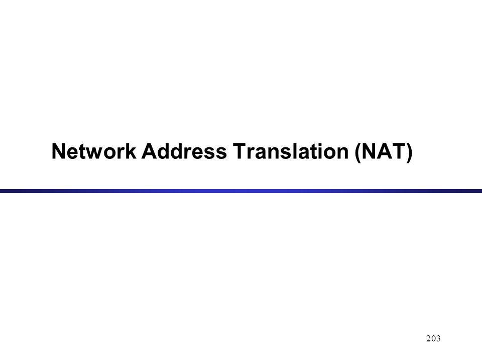 203 Network Address Translation (NAT)