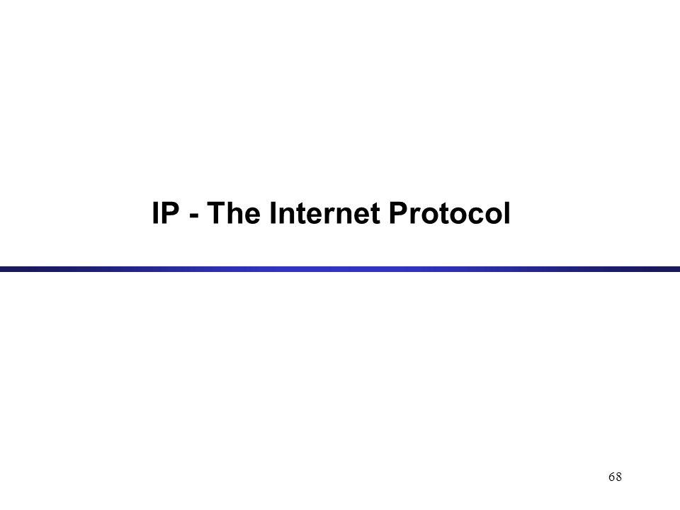 68 IP - The Internet Protocol