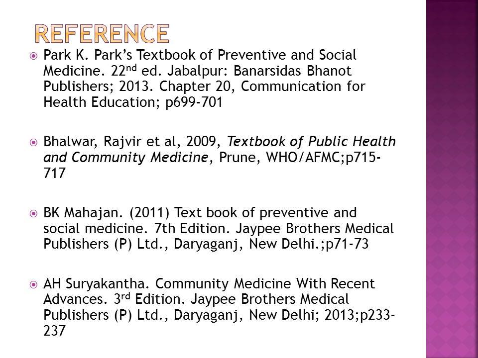 Presenter pallabi priyadarsini 1 st yr mph mod dr m rrayana park k parks textbook of preventive and social medicine fandeluxe Image collections