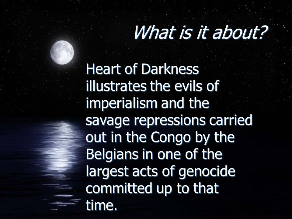 compare themes of heart of darkness and Heart of darkness joseph conrad 1899 author biography compare and contrast it to conrad's story what elements of the original story are preserved in the film yet, the female characters in heart of darkness play an important role in the central themes and symbolism of the story.
