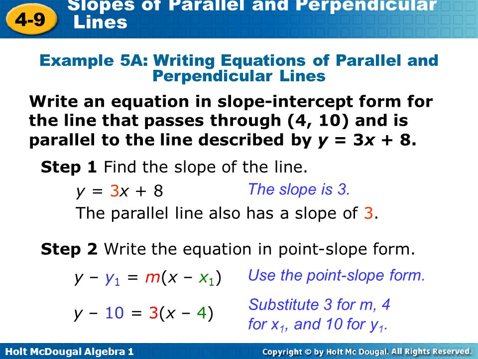 Writing Equations Of Parallel And Perpendicular Lines Custom Paper Help