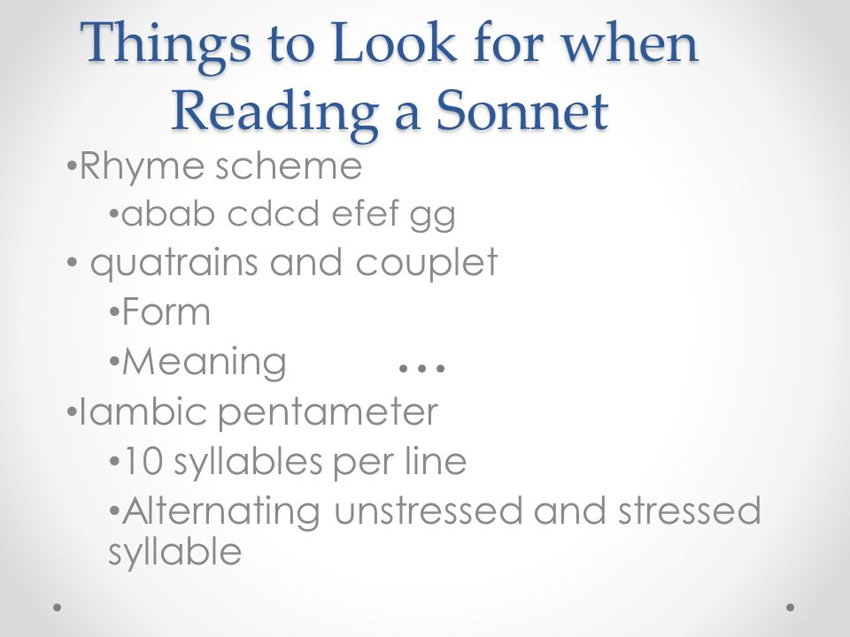 Sonnet 15 iambic pentameter Homework Writing Service ...