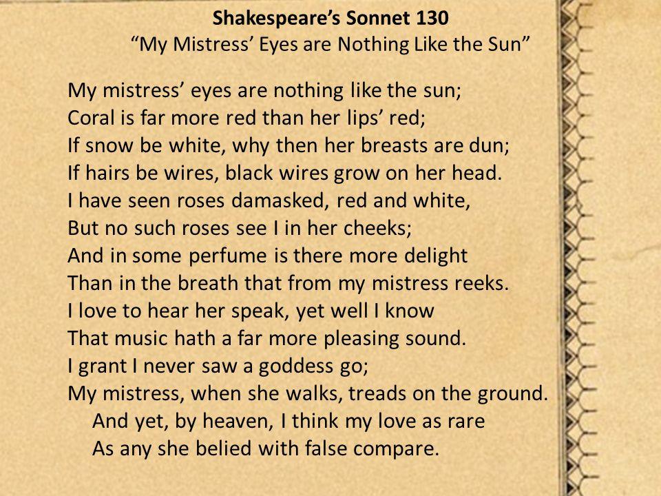 sonnet 130 shakespeare