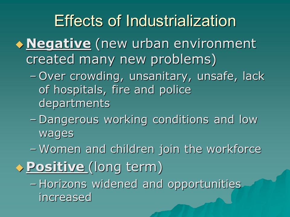 effects of urbanization essay
