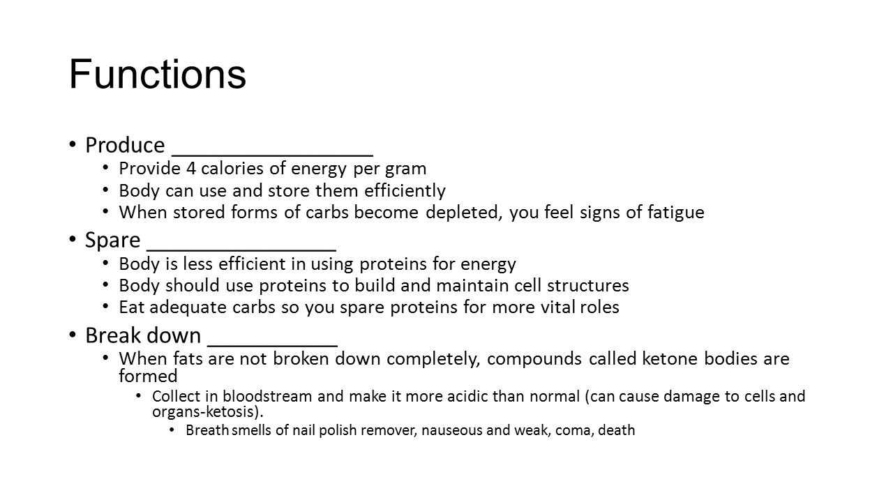 : The Preferred Body Fuel Carbohydrates game: - ppt download