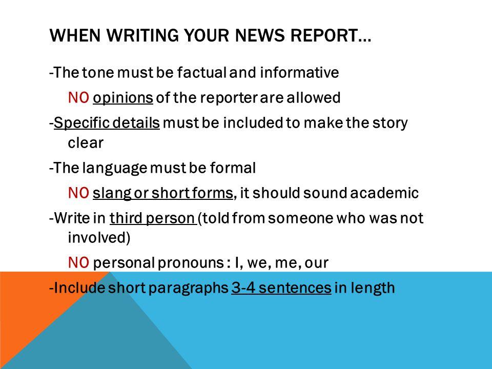 news report essay Explore the Report