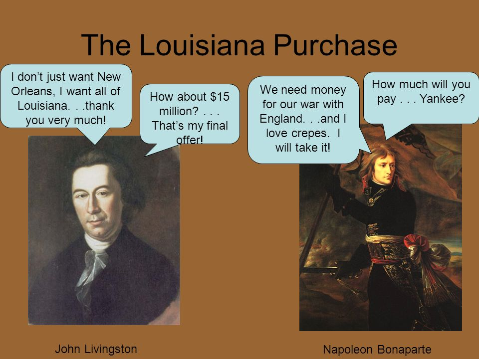 I don't just want New Orleans, I want all of Louisiana...thank you very much.