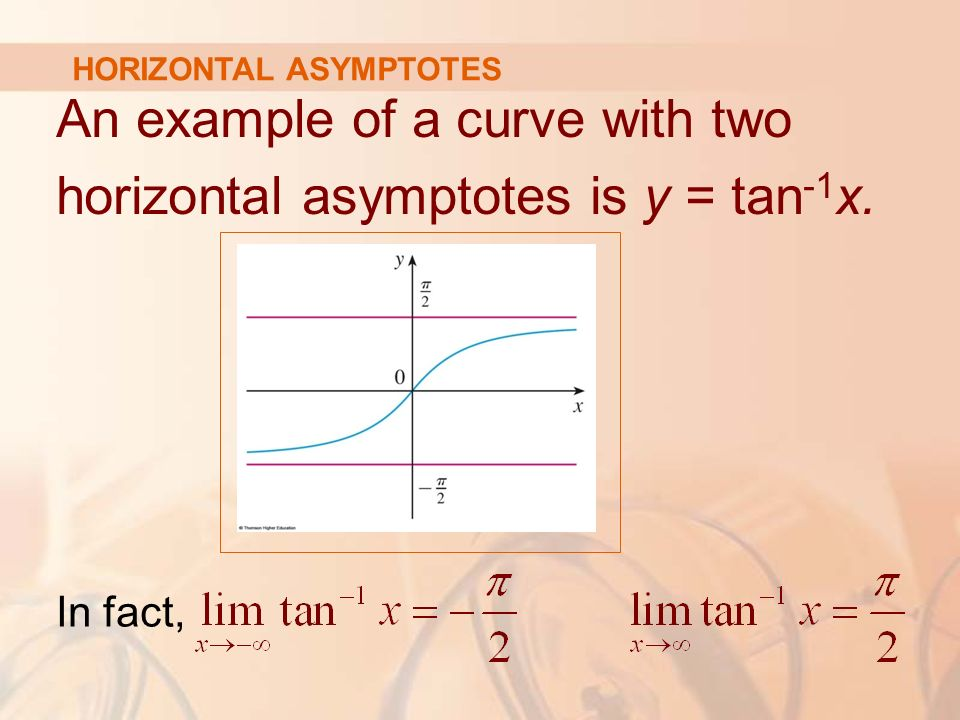 26 limits at infinity horizontal asymptotes limits and an example of a curve with two horizontal asymptotes is y tan 1 x ccuart Images