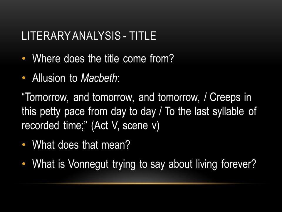 Macbeth Literary Analysis?