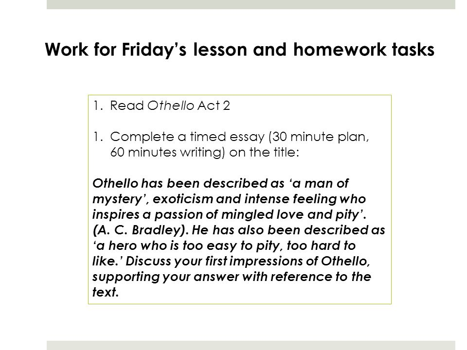 an analysis of othello first impression essay