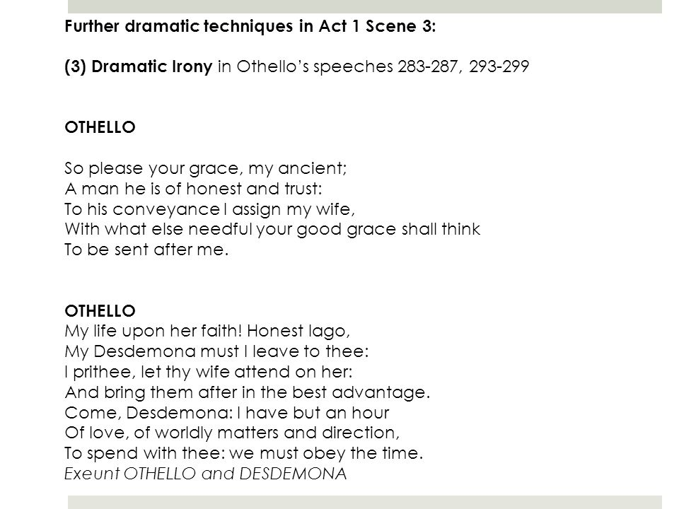 What are the dramatic techniques used in Hamlet Act 1?
