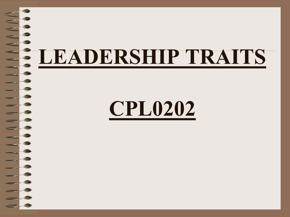 LEADERSHIP TRAITS CPL0202