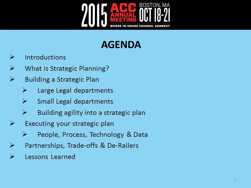 strategic planning agenda