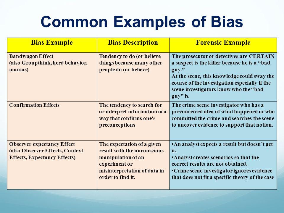 47 bias examplebias descriptionforensic. Resume Example. Resume CV Cover Letter