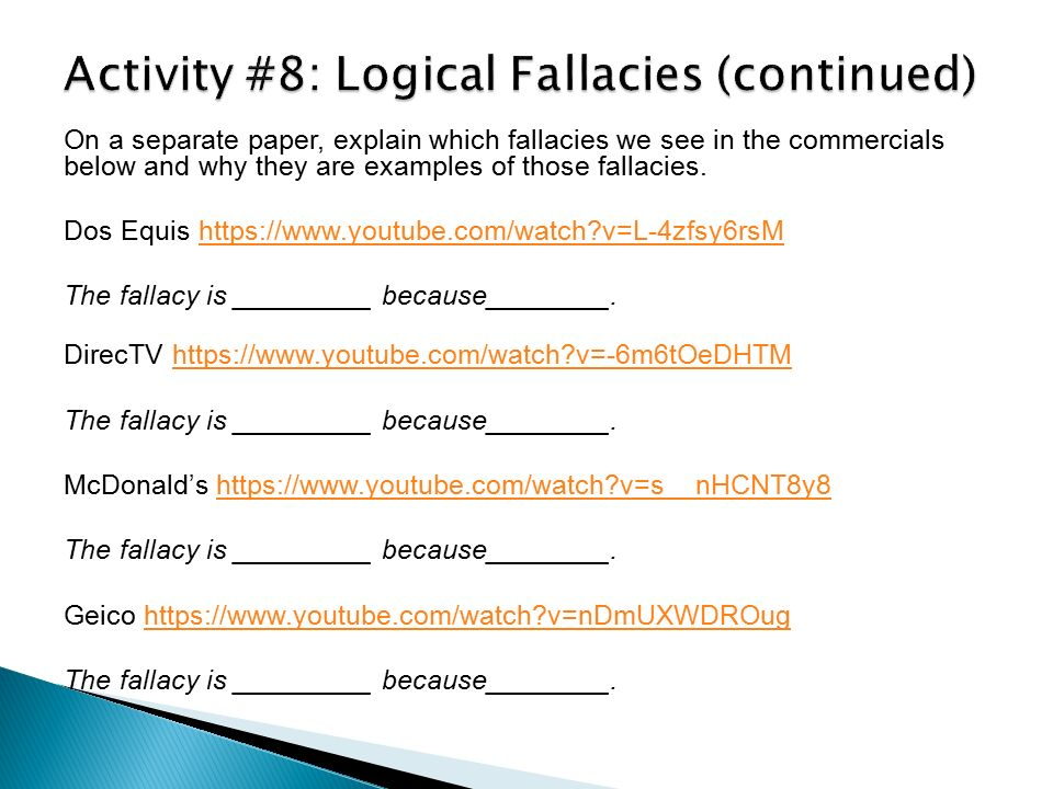 article with logical fallacies essay Free logical fallacies papers, essays, and research papers.
