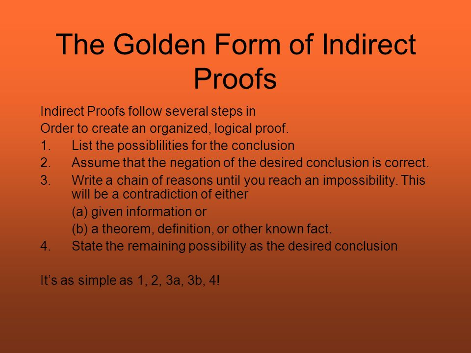 Big Trouble in Little Geometry Chapter 51 The Indirect Proof By – Indirect Proof Worksheet