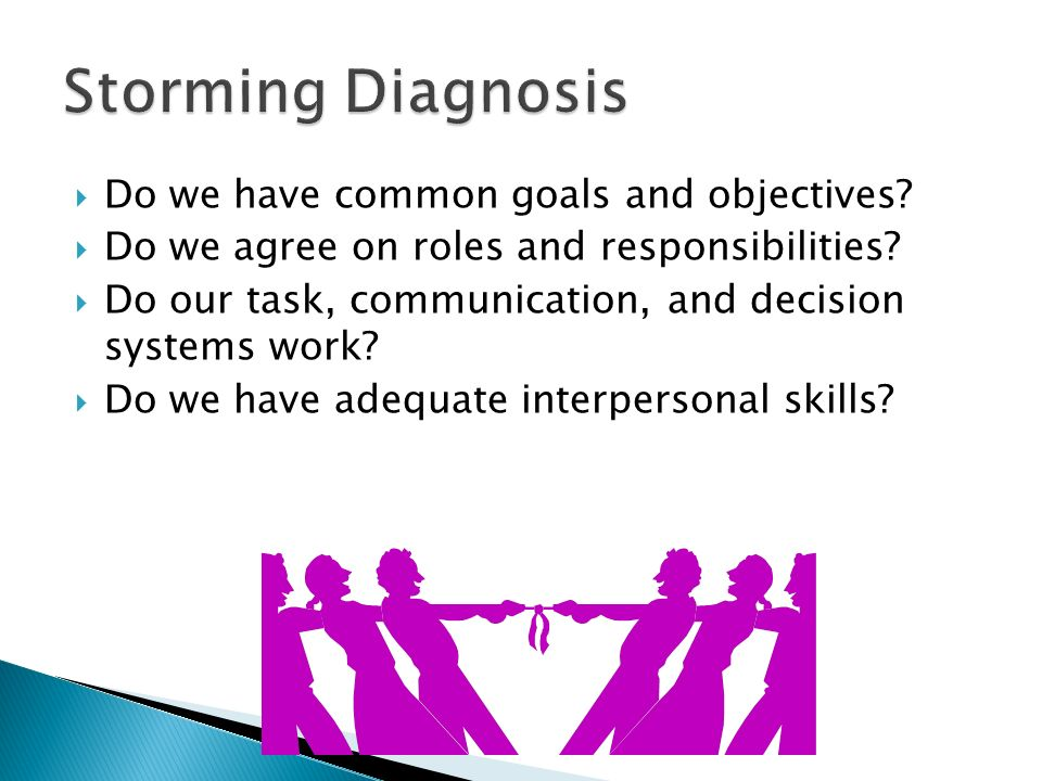  Do we have common goals and objectives.  Do we agree on roles and responsibilities.