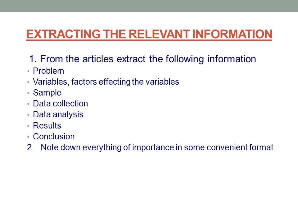 How to write a literature review conclusion