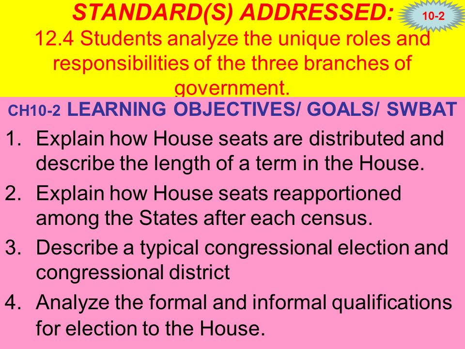 the roles and responsibilities of congress The power of the executive branch is vested in the the laws written by congress missions and responsibilities as widely divergent as those of.