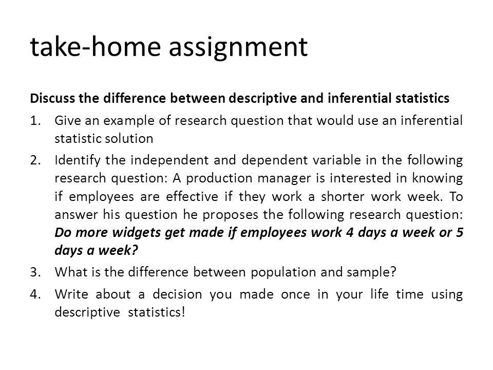 Statistics Assignment Examples