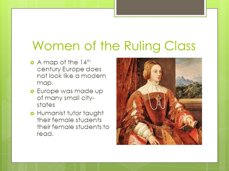 Women In The Renaissance By Kayla D Green Introduction  The