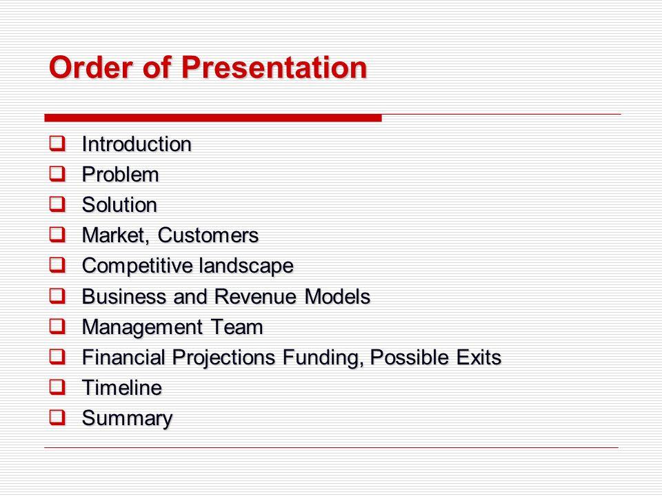 Management team business plan