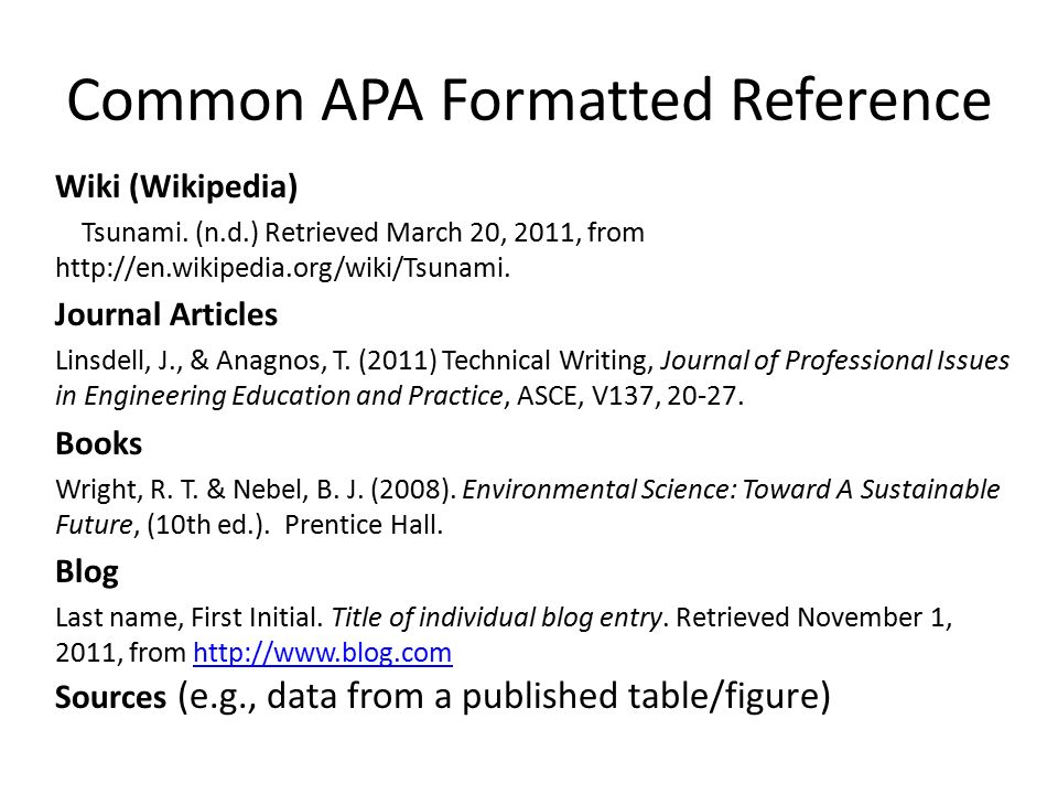 apa format engine