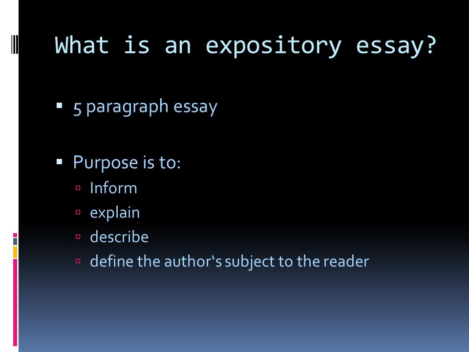expository essay by definition Definition of expository in the legal dictionary the workshop featured an essay contest, with the best expository essay named 'change' by ahmed al mosawi.