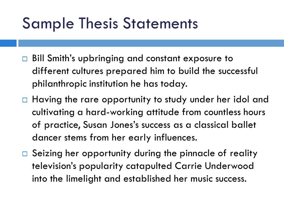 write good thesis statement descriptive essay