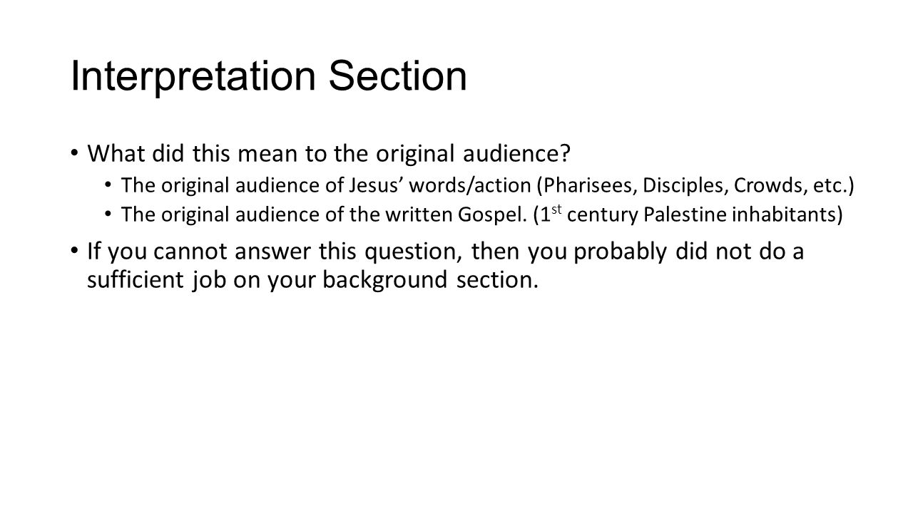 Exegetical Paper Example