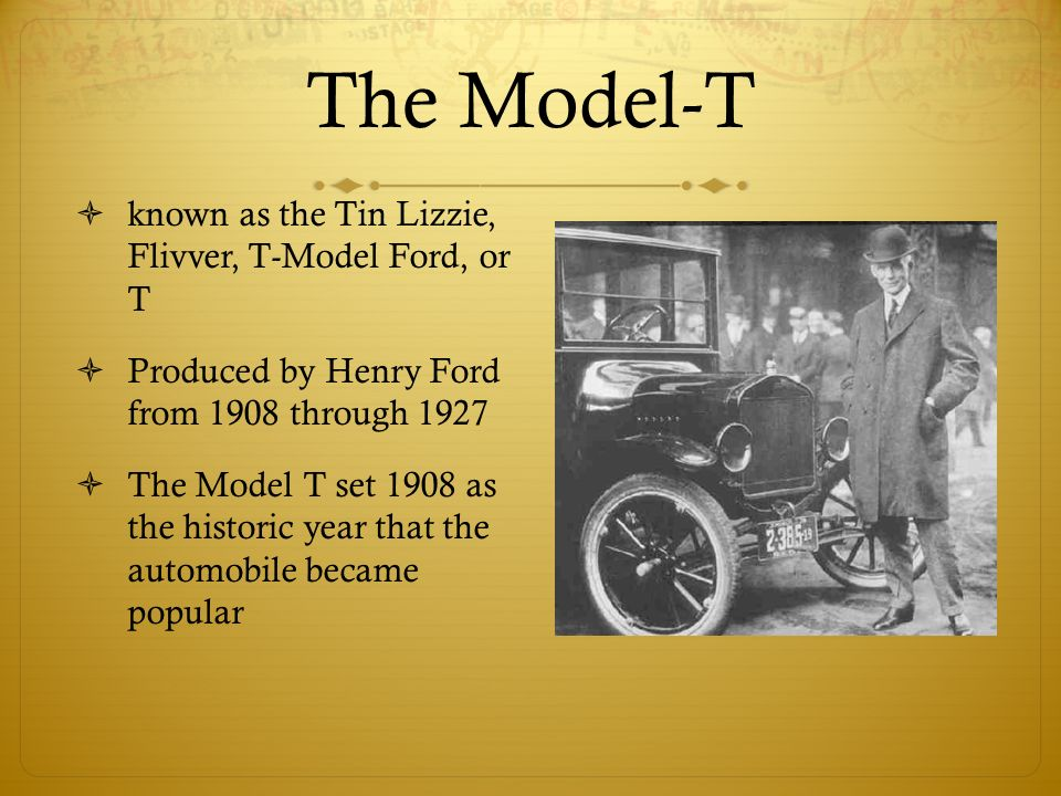 Automobiles. The First Cars  At the turn of the century there were ...