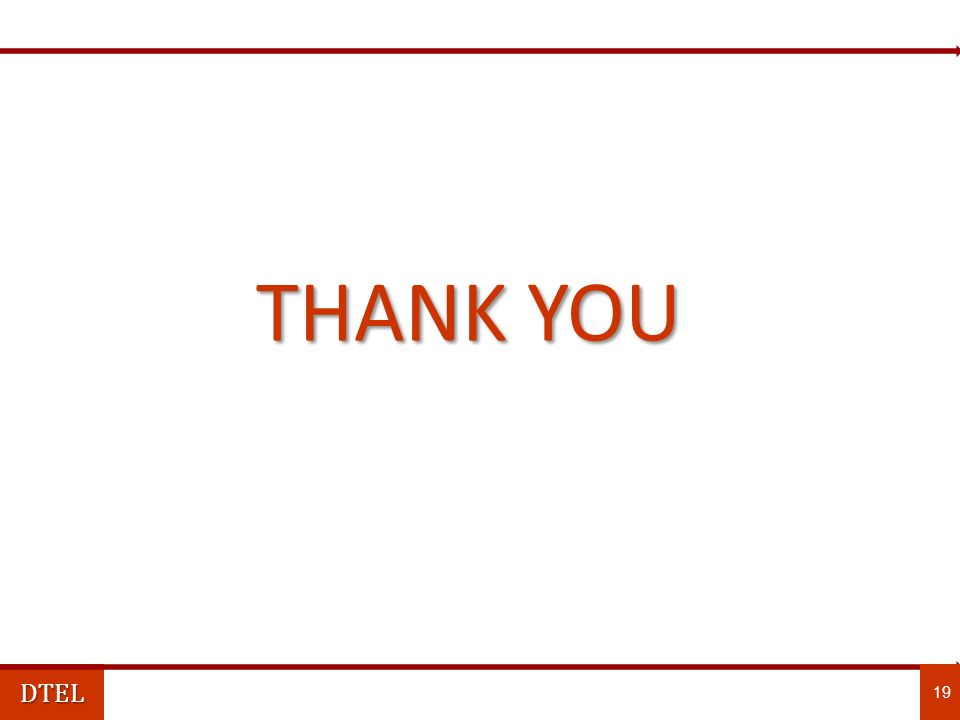DTEL 19 THANK YOU