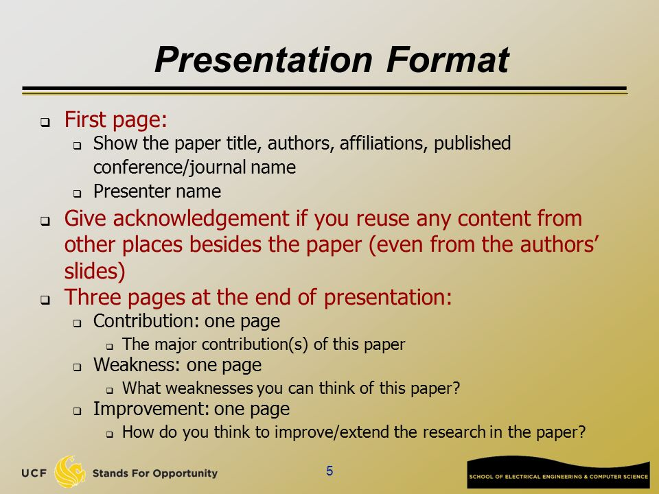 paper presentation format sample Paper presentation guidelines 2 summary instructions and checklist for paper set it off from the text in display format as in the sample paper below.
