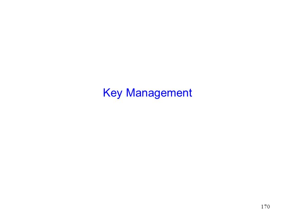 170 Key Management