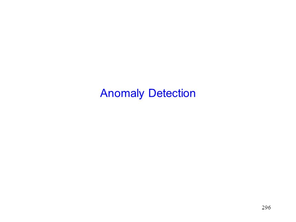 296 Anomaly Detection