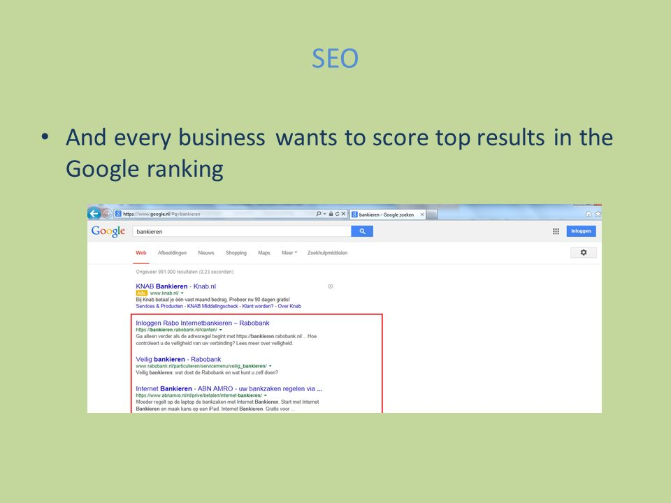 SEO And every business wants to score top results in the Google ranking