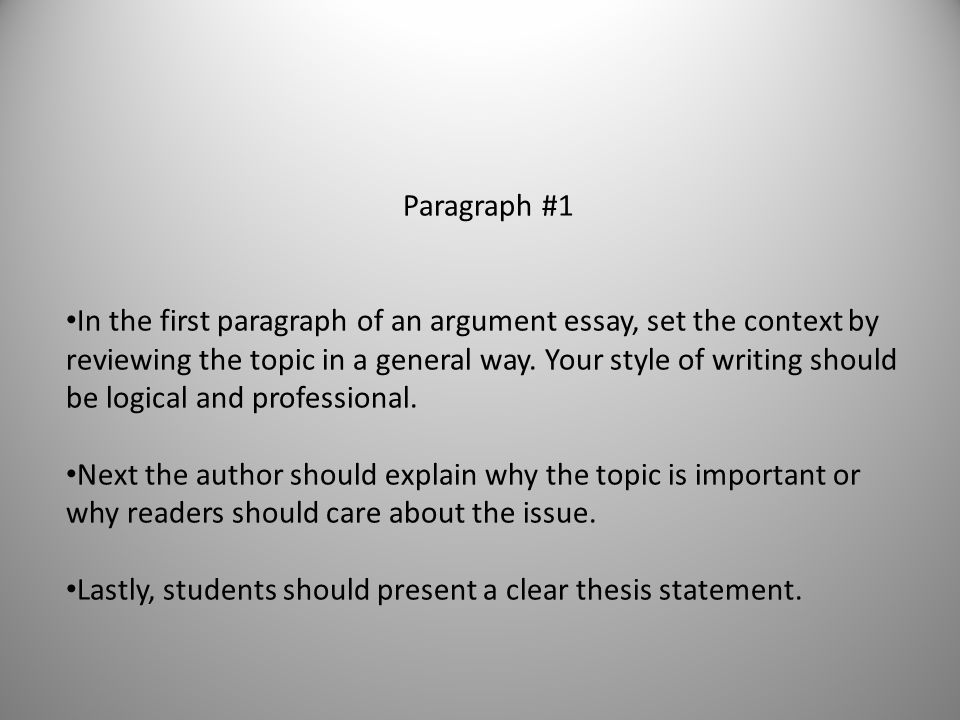 classical argument essay rubric