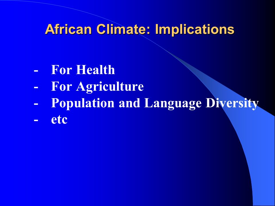 african language climate