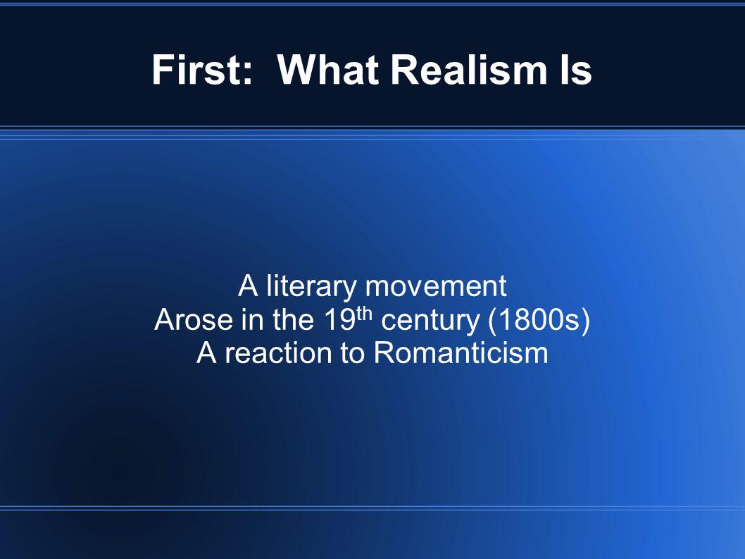 realist essay