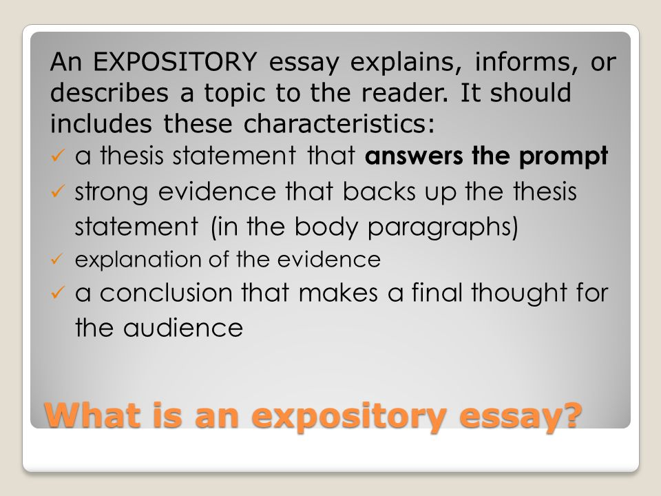 explain expository essay Exposition (narrative) narrative exposition is the insertion where he used the technique much more obviously and necessarily, to explain an entirely fantastic.